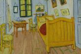 """1888年10月,梵高开始绘制第一版《阿尔勒卧室》,还在给弟弟提奥的书信里勾勒出草图。梵高这么描述它:""""颜色在这里代表一切:墙壁是淡紫罗兰色,地板是红瓷砖。木质的床和椅子,就像新鲜的黄油;床单和枕头拥有柠檬般的淡绿色…这些物件带来的,也是一场休憩、或说是梦。""""(实习编辑:周芝)"""