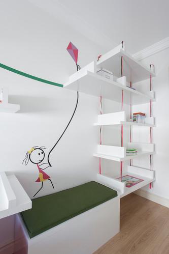 女孩都会心动吧!卧室里的可爱墙绘