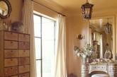 ③布艺运用 繁复花样的地毯和柔软窗帘的搭配展现自然、优雅、高贵、含蓄的品位。打开复古的落地窗,在楼台喝一口红茶看风景,也是一种消遣。