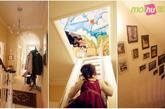 终极杀手锏:带有记忆的照片墙与小物 Ben小时候的涂鸦就在阁楼里,而看看这间房子,楼梯间、拐角处、入门隔断各个地方Ben都用简洁的金属相框把一家人的记忆留住,设计师的说法是只有营造家的温馨才能把温莎的怀旧美沉淀下来,这才是一个真正的居住空间。(实习编辑:谭婉仪)