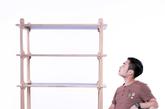 5.鲁班锁之「桑」系列家具 这款名为「桑」的系列作品由张佐藤设计,包括椅架两个部分。