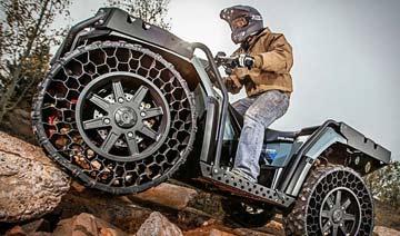 世界首辆非充气轮胎全地形汽车 富豪们的大玩具