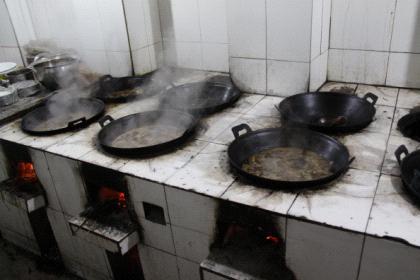 农村灶头厨房设计图图片