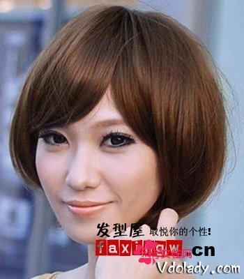 圆脸妹瘦脸发型首选波波头 六款短发大脸变小脸