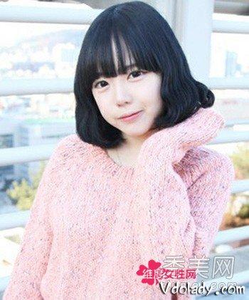 韩国女生中短发发型 装嫩卖萌的减龄武器