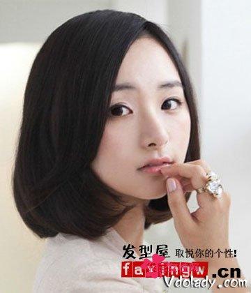 适合短发MM的四款最新金花波头圆脸大牌扎潮波如何给自己发发型图片