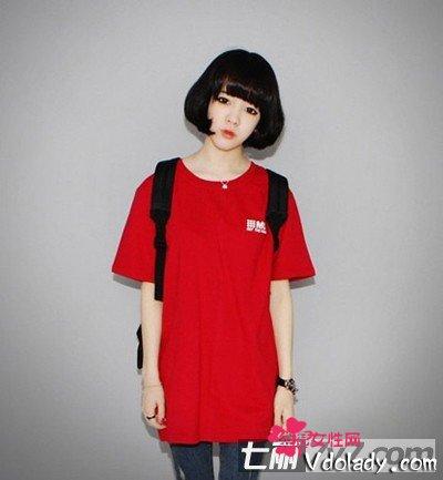 8款最新Hot齐刘海女生让发还短发心动的发型染过紫红色的头长脸能染什么颜色图片