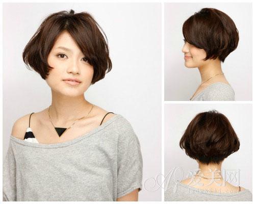 春夏短发烫发图片 潮女必备流行发型
