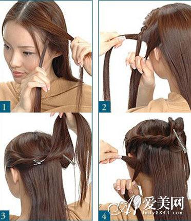 美容 发型潮流会 > 正文  无刘海干练扎发步骤图解: 步骤一:先从耳朵