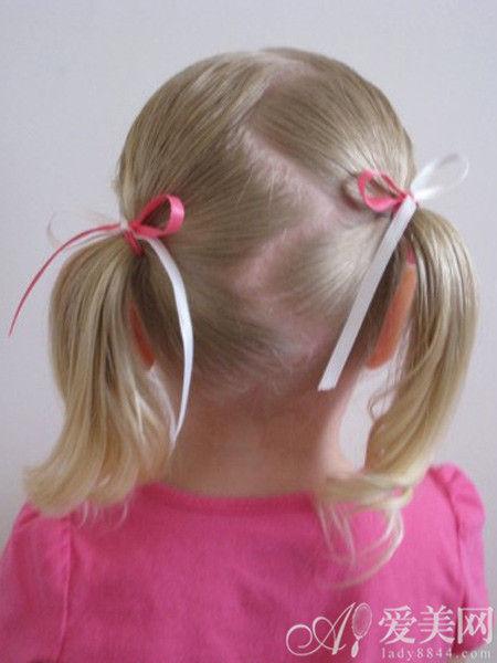 时尚女娃丝带创意发型 一分钟装萌