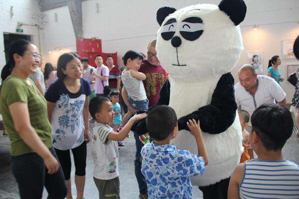 布贴画熊猫图片