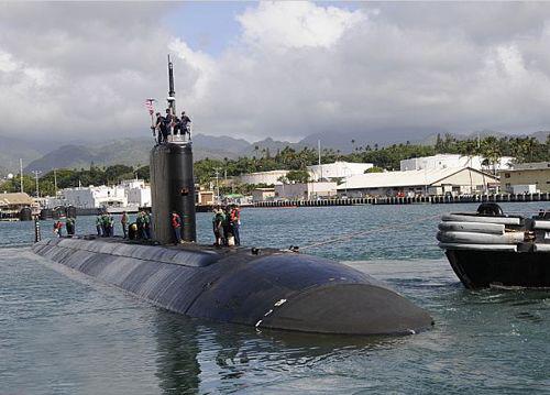 """资料图:美国海军""""夏洛特""""号核潜艇。"""