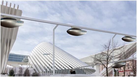 以色列空中磁悬浮汽车 时速可达70公里高清图片
