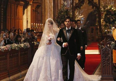周杰伦上月刚刚在英国完成大婚