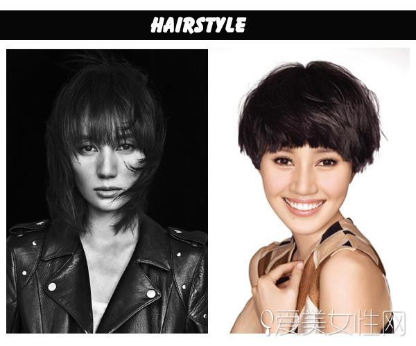 齐刘海中短发造型的袁泉看起来有气质,而锅盖波波头假发造型让她变老