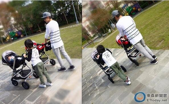 [明星爆料]林志颖双胞胎儿子三个月了 Kimi抢推婴儿车