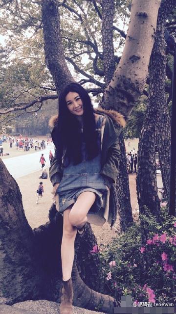 [明星爆料]温碧霞享受周末美好时光 穿短裤秀美腿似少女