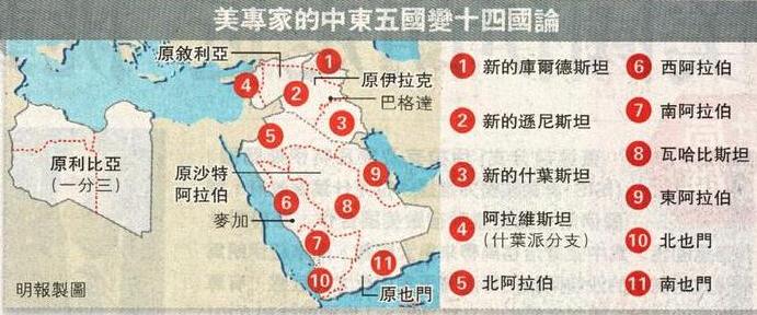 美欲重划中东地图:将大国变小国
