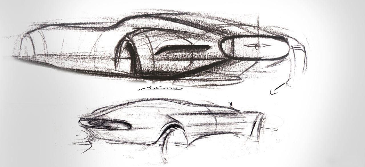 素描设计汽车画法步骤图片大全