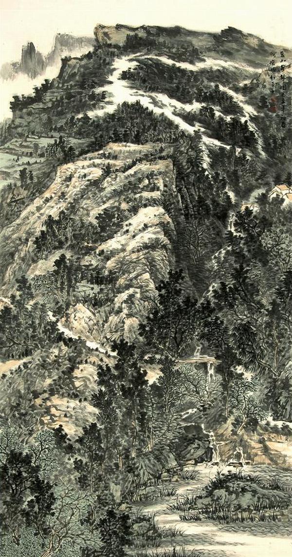 中国山水画创作院院委,国家一级美术师齐宏伟国画欣赏图片