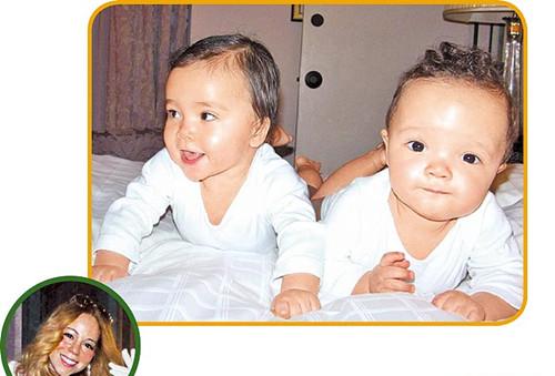玛丽亚·凯莉双胞胎儿女曝光 两婴儿逗趣可爱(图)