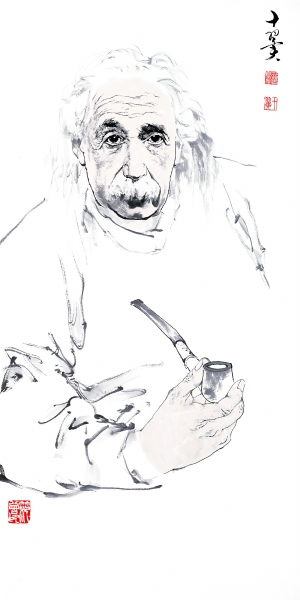 爱因斯坦 (国画)  范曾