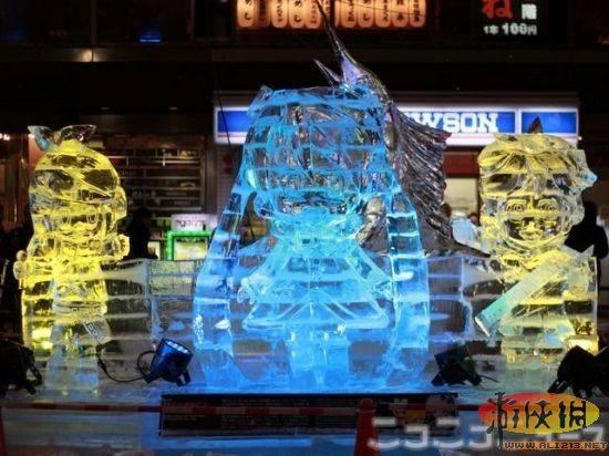 日本札幌冰雪节汇聚80后最喜爱的游戏角色 (3)图片