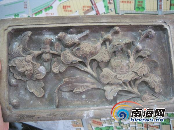 历史建筑上的花纹有参考海南古旧的雕花.(南海网记者刘嘉珮摄)