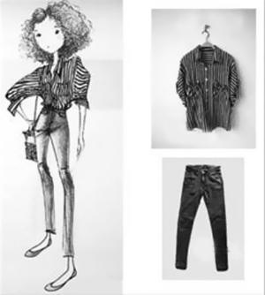 近日,一家淘宝服装店依靠店主的手绘模特吸引了许多网购爱好者的目