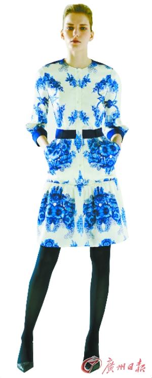 源自青花瓷灵感的服装设计