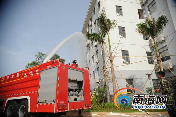 海口航标处开展消防救生演练 增强处置火灾能力