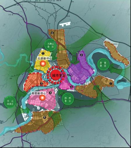 自贡东部新城规划-两江五桥 将大泸州串成整体