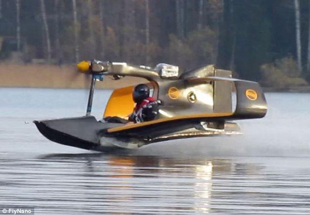 是摩托艇还是飞机?最新微型电动飞行器完成试飞