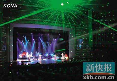 ■舞台使用了现代化的激光投影。