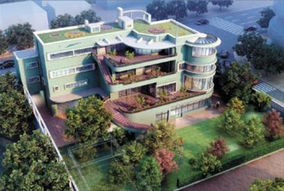 上海市城市规划设计研究院相关负责人透露,目前绿房子的内部装饰的确