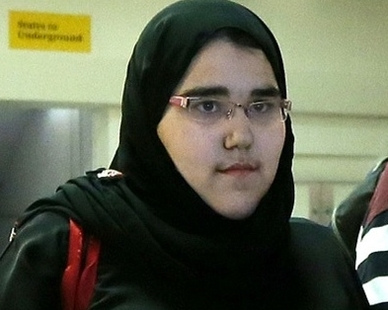 沙特柔道女选手沃丹-沙赫卡尼。