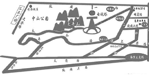 太平山景区导游图