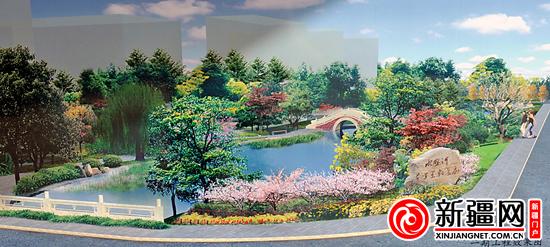 乌鲁木齐水磨河千米景观长廊改造工程开工