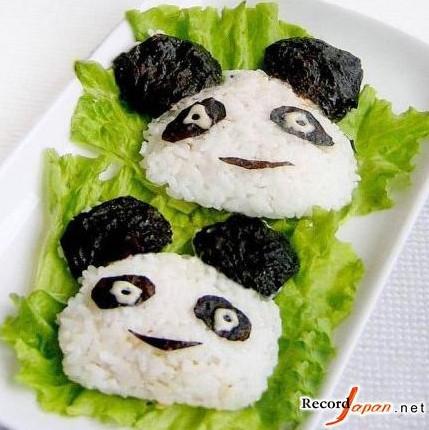 """日本的""""熊猫饭团子拼盘""""大受欢迎"""