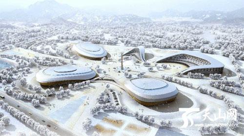 第十三届全国冬季运动冰上运动中心在乌鲁木齐水西沟奠基开工,这青岛少林武术图片