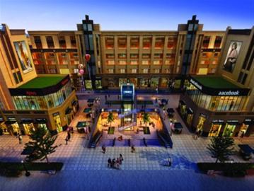 东方现代商业广场沿袭欧式巴西里卡建筑风格,一,三,四层商业层高5.