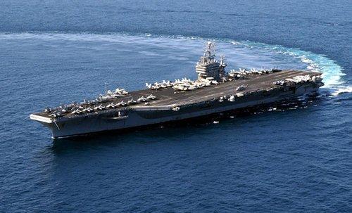 资料图:美军华盛顿号核动力航母