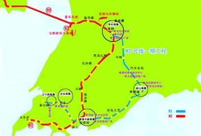 地铁m2将青岛五大商圈串联于一线