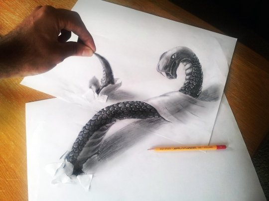 铅笔画3d可爱动物