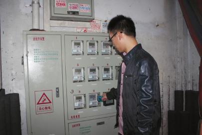智能电表用户正在充电.