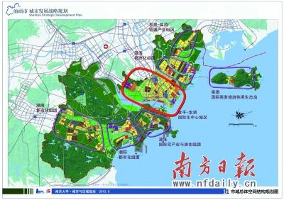 汕头市域总体空间结构规划图