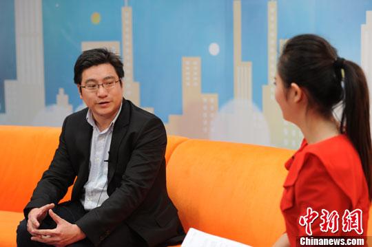 陈黎明。    中新网记者张龙云摄。