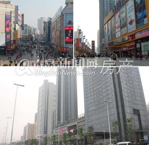 上图:小港周边富贵的台东、辽宁路商圈 下图:开拓区长江路商圈实拍