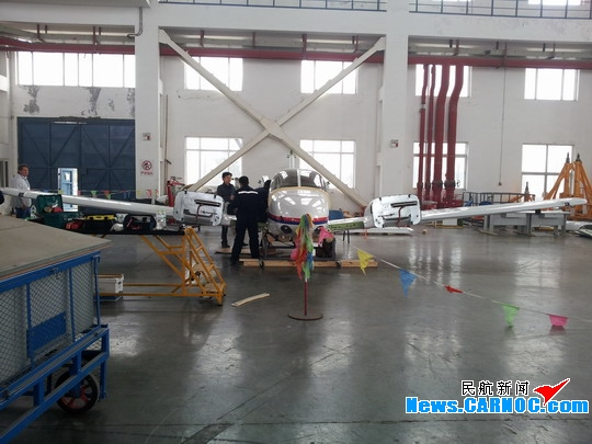 44飞机现身东航山东维修部青岛机库