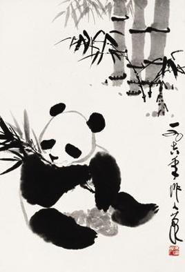 大熊猫素描画法步骤图